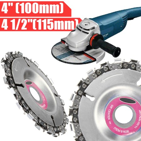 4 Inch Grinder Disc Tooth Fine Chain Saw Angle Carving Cutting Wood (Best Chainsaw Chain Grinder)