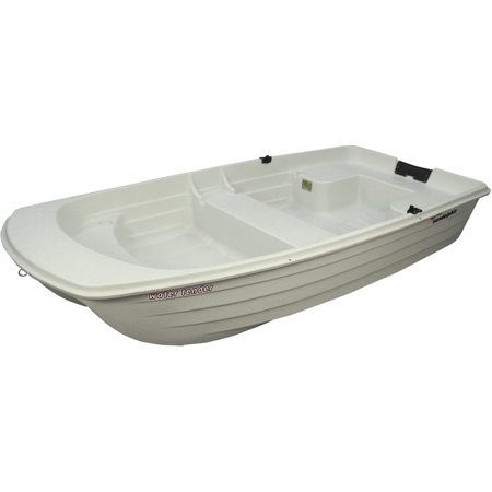 Sun Dolphin Water Tender 9.4' Dinghy Portable Row Boat, Cloud White