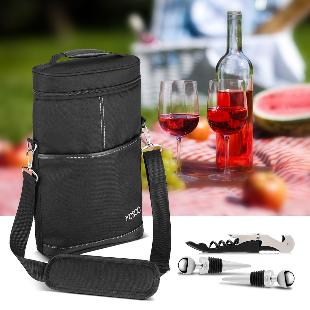 Zerodis Versatile Bottle Wine Carrier Insulated Travel Picnic Beer Storage Bag Case + CorkscrewBottle & Zerodis Versatile Bottle Wine Carrier Insulated Travel Picnic Beer ...