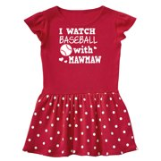 I Watch Baseball with My Mawmaw Toddler Dress