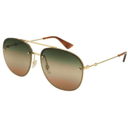 643ad6da44 Gucci Multicolor Aviator Ladies Sunglasses GG0227S 004 62 - image 1 of 1 ...