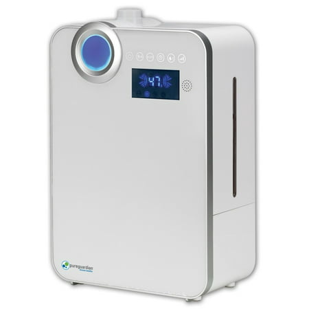 PureGuardian Ultrasonic Warm and Cool Mist Humidifier, Large Room, Home, Office, Easy Quiet Operation, Digital Display, Auto Humidistat, Timer, Auto Shut-Off, Pure Guardian H7550 (Room Humidifiers Warm)