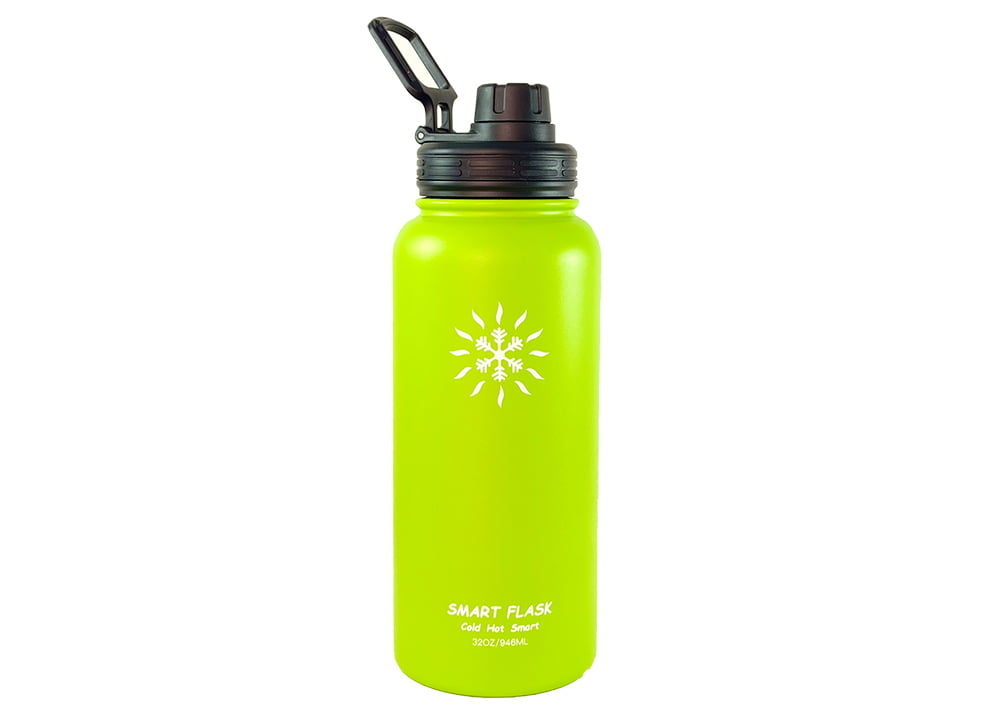 Smart Flask Stainless Steel Water Bottle Vacuum Insulated 32oz with Straw Lid