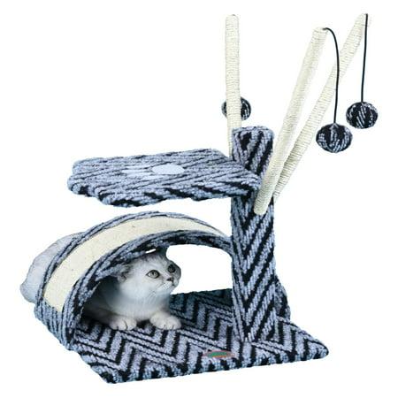 Go Pet Club Cat Tree - Grey and Tan - 22 in. ()