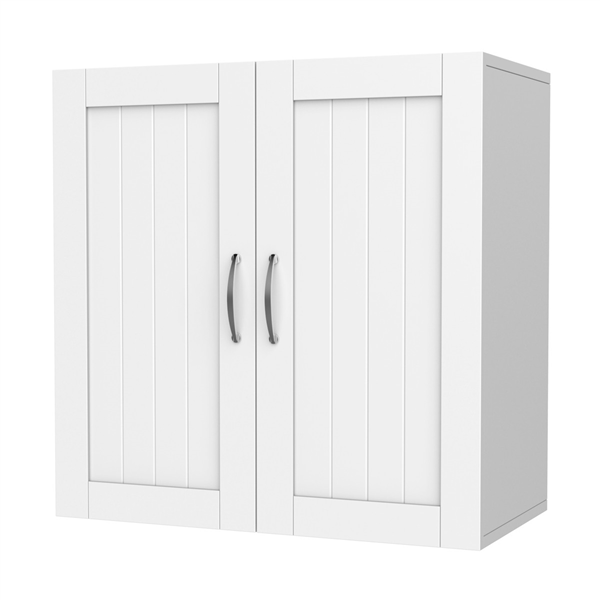 "Home Kitchen/Bathroom/Laundry 2 Door 1 Wall Mount Cabinet,White,23""x23"""