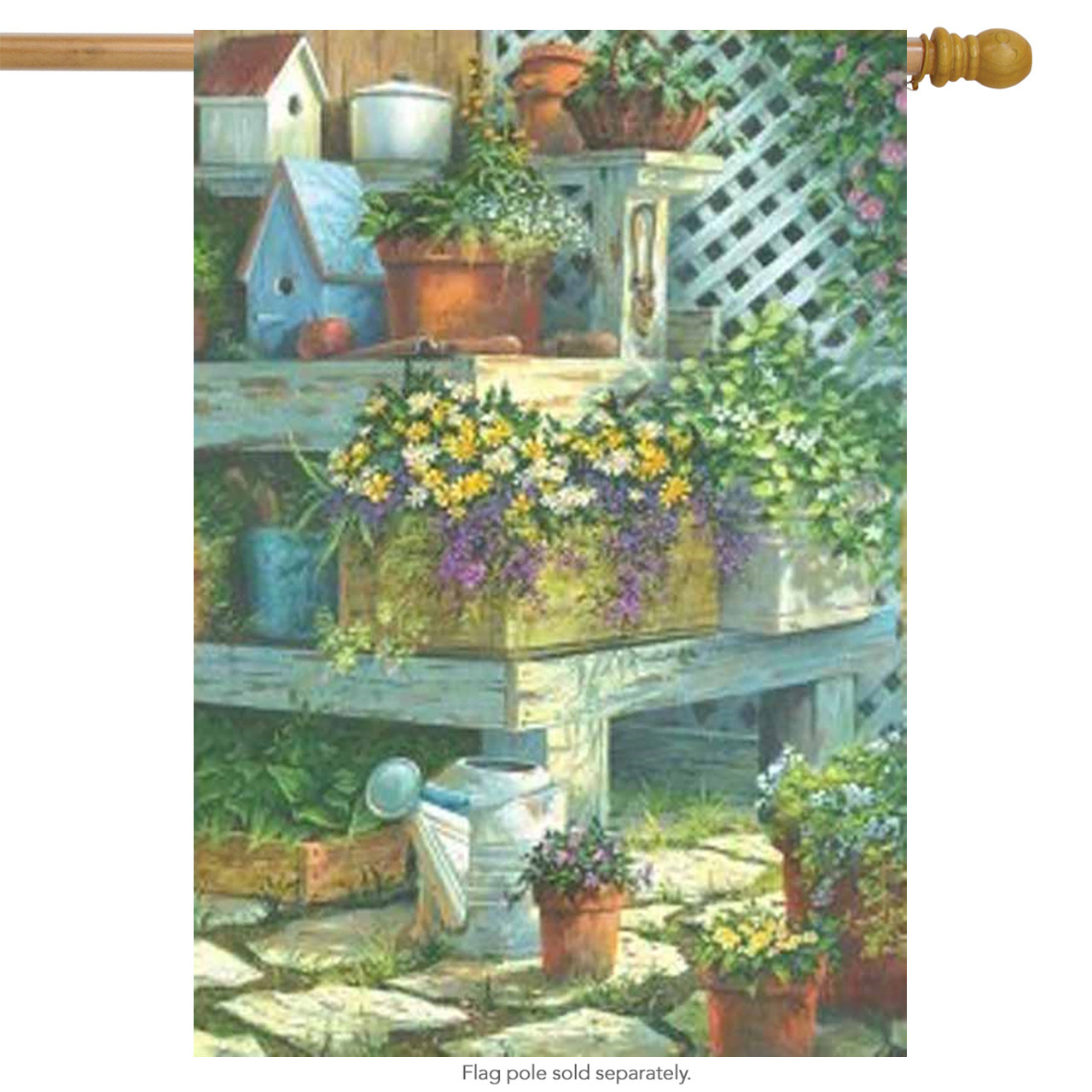 Garden Treasures Spring House Flag