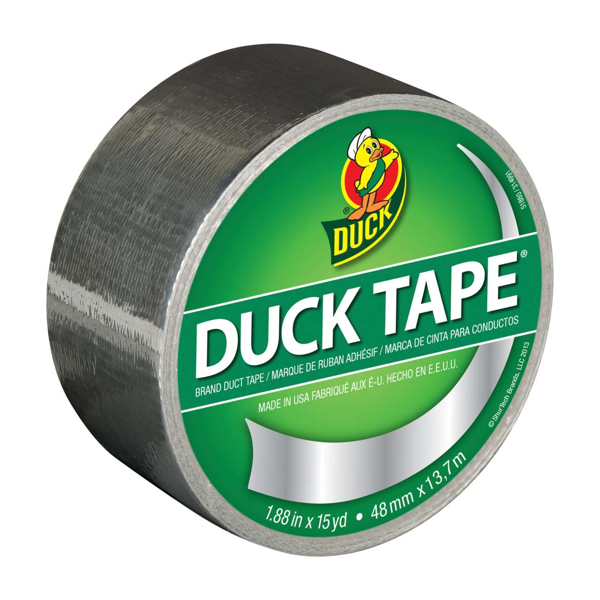 Duck Brand Duct Tape, 1.88 in. x 15 yds., Chrome