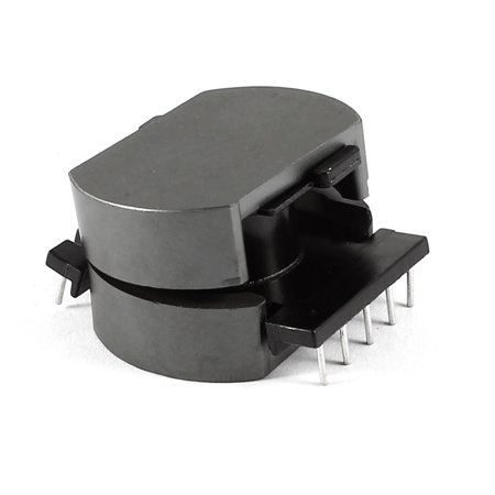 Unique Bargains Inductor 10 Pin Coil Former Robbin POT3319 Ferrite Core Bobbin Black