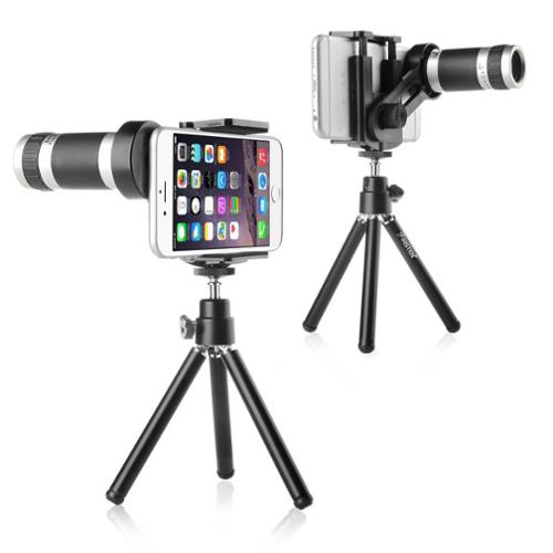 Insten 8X Zoom Telescope Camera Lens with Tripod Stand For Smartphone iPhone 6 Plus 6S 5 5S 5C 4 4S Samsung Galaxy S6 Edge Plus S5 S4 S3 S2 Note 5 4 3 2 Core Prime Centura Avant ZTE Zmax Universal