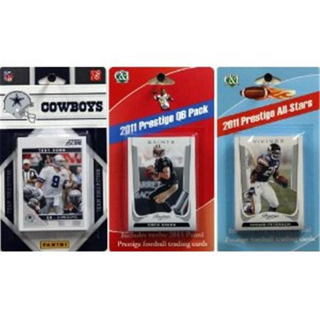 C & I Collectables 2011COWBOYSTSC NFL Dallas Cowboys Licensed 2011 Score Team Set With Twelve Card 2011 Prestige