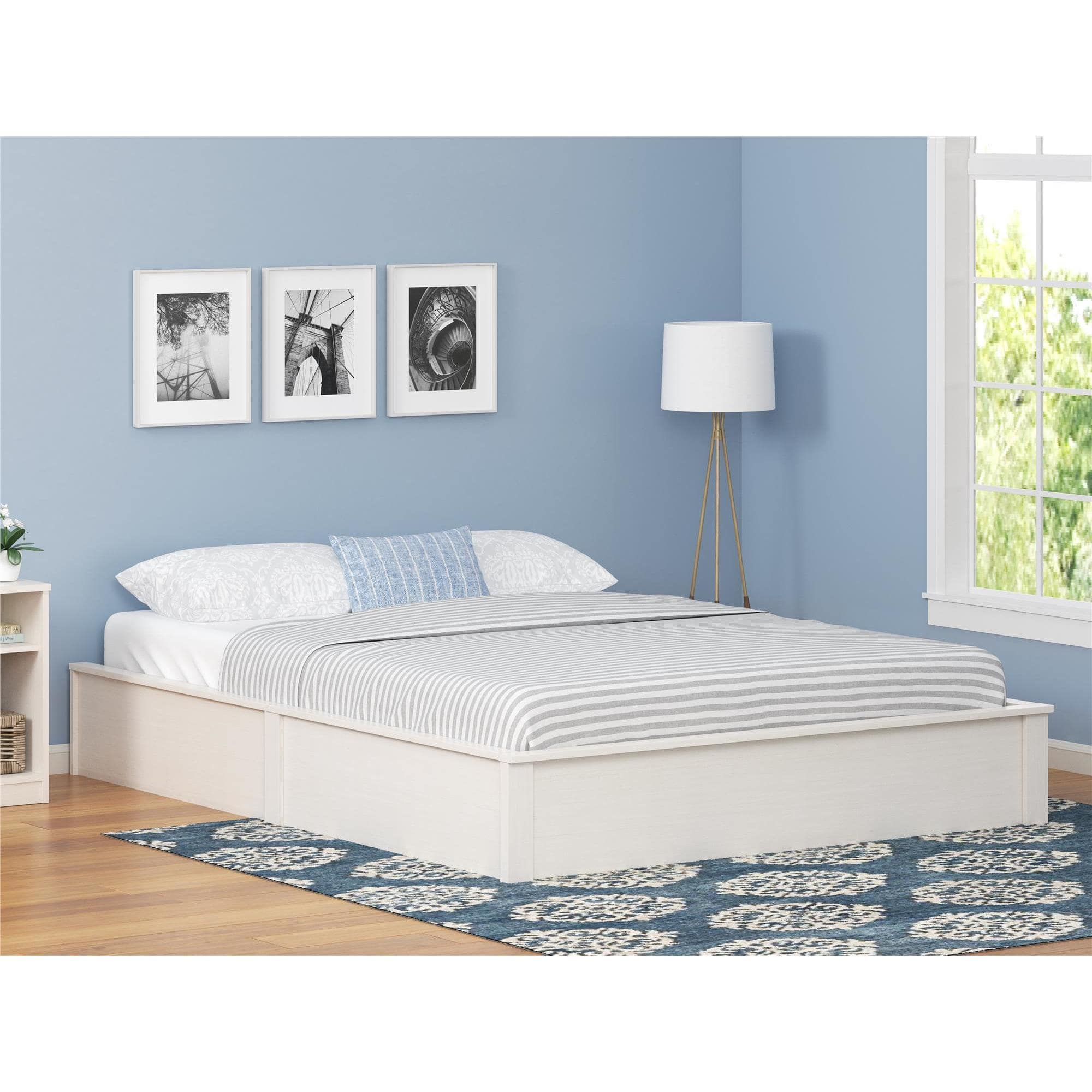 Ameriwood Home Platform Bed Frame, Multiple Colors and Sizes