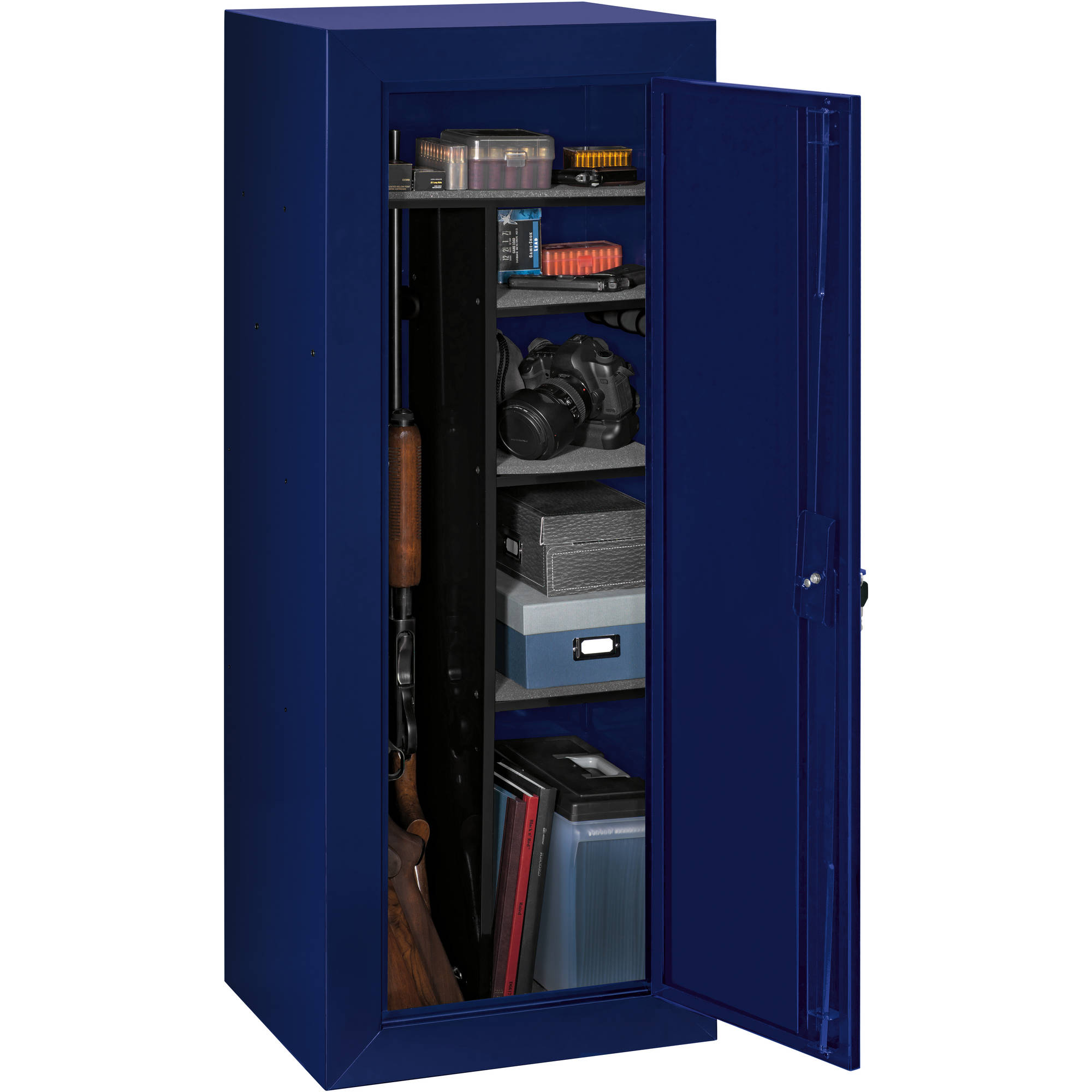Stack-On Limited Edition 18-Gun Steel Security Cabinet, Blue ...