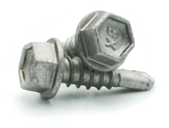 Buildex Hex Washer Head Self Drilling TEK Screws Climaseal Coated #12-14 x 3//4 Qty 100