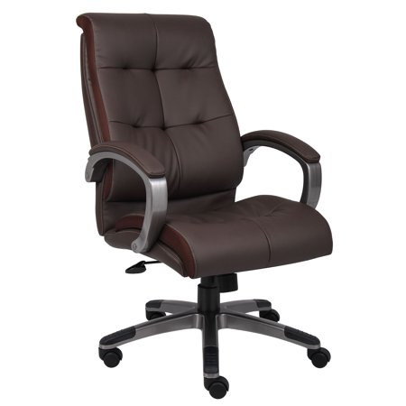 Double Plush High Back Executive Chair Brown - Boss Office Products
