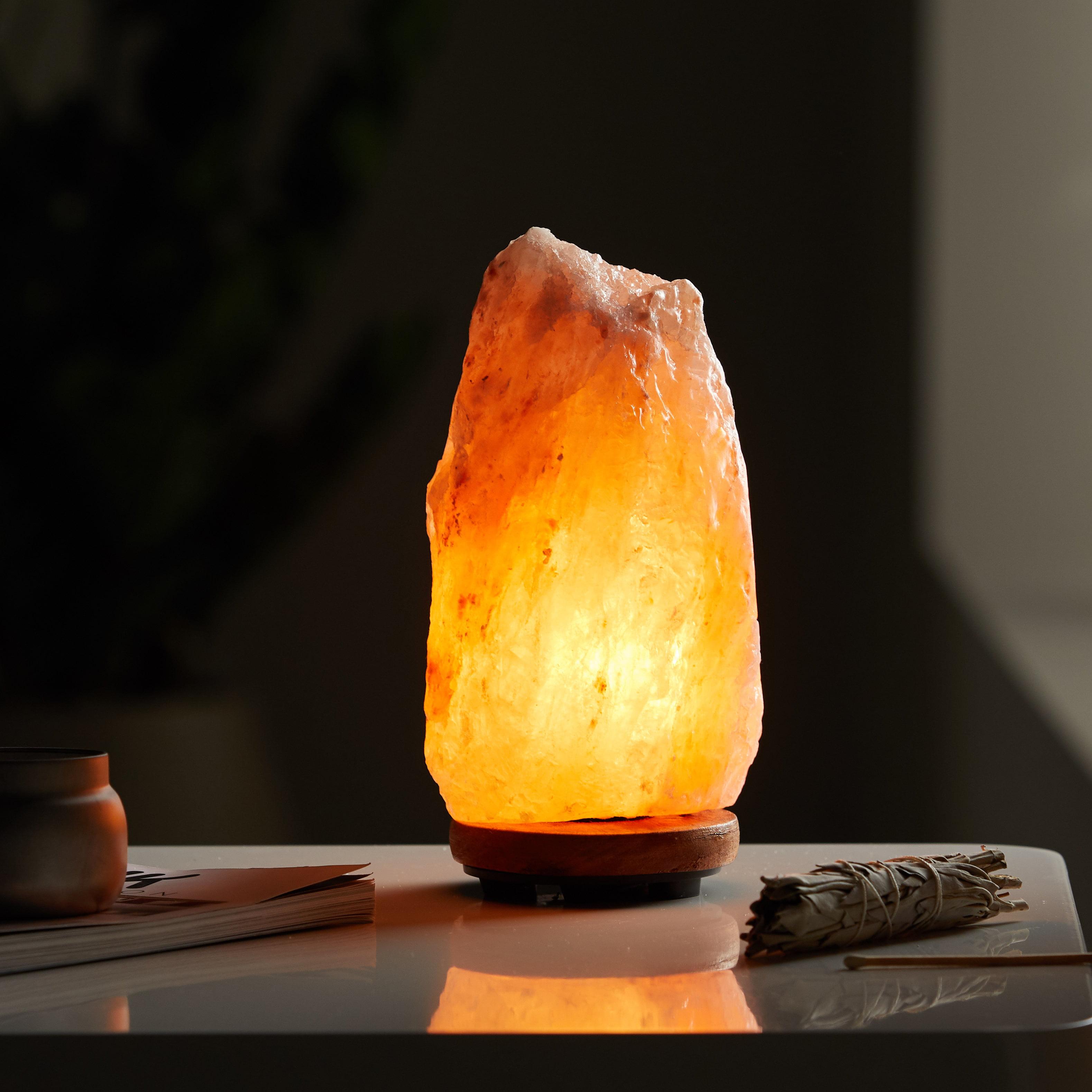 Natural Hand Carved Himalayan Pink Salt Lamp, 5-7lbs
