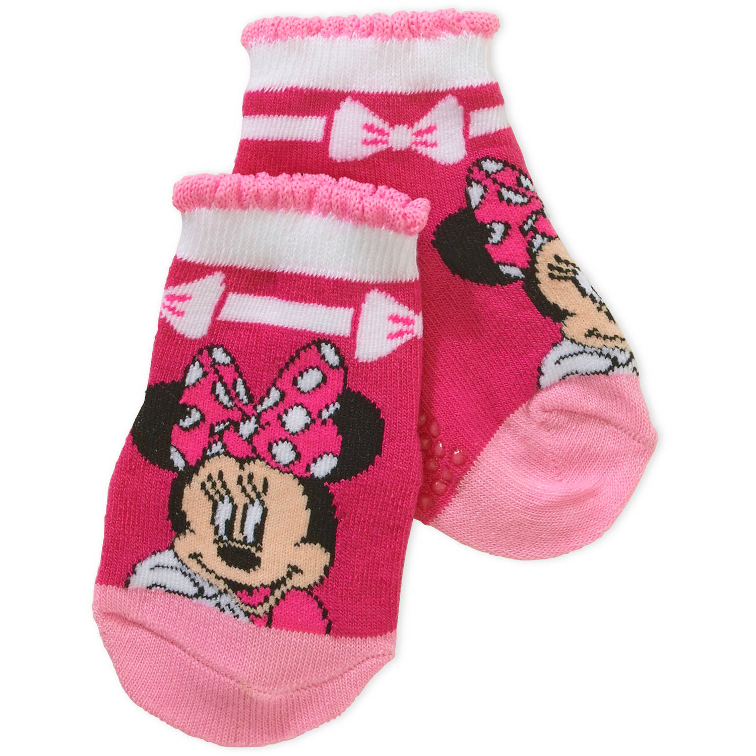 Minnie Mouse Toddler Girl Quarter Socks, 3-Pack