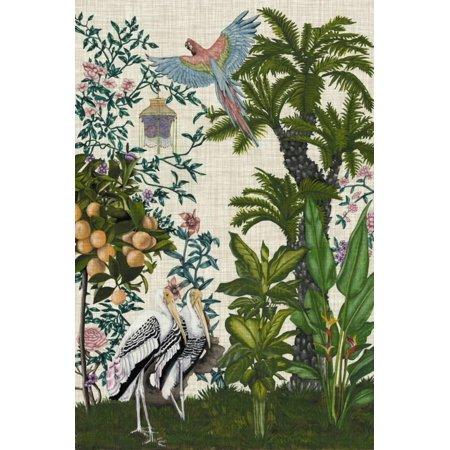 Paradis Chinoiserie II Chintz Tropical Bird Animal Art Print Wall Art By Naomi McCavitt ()