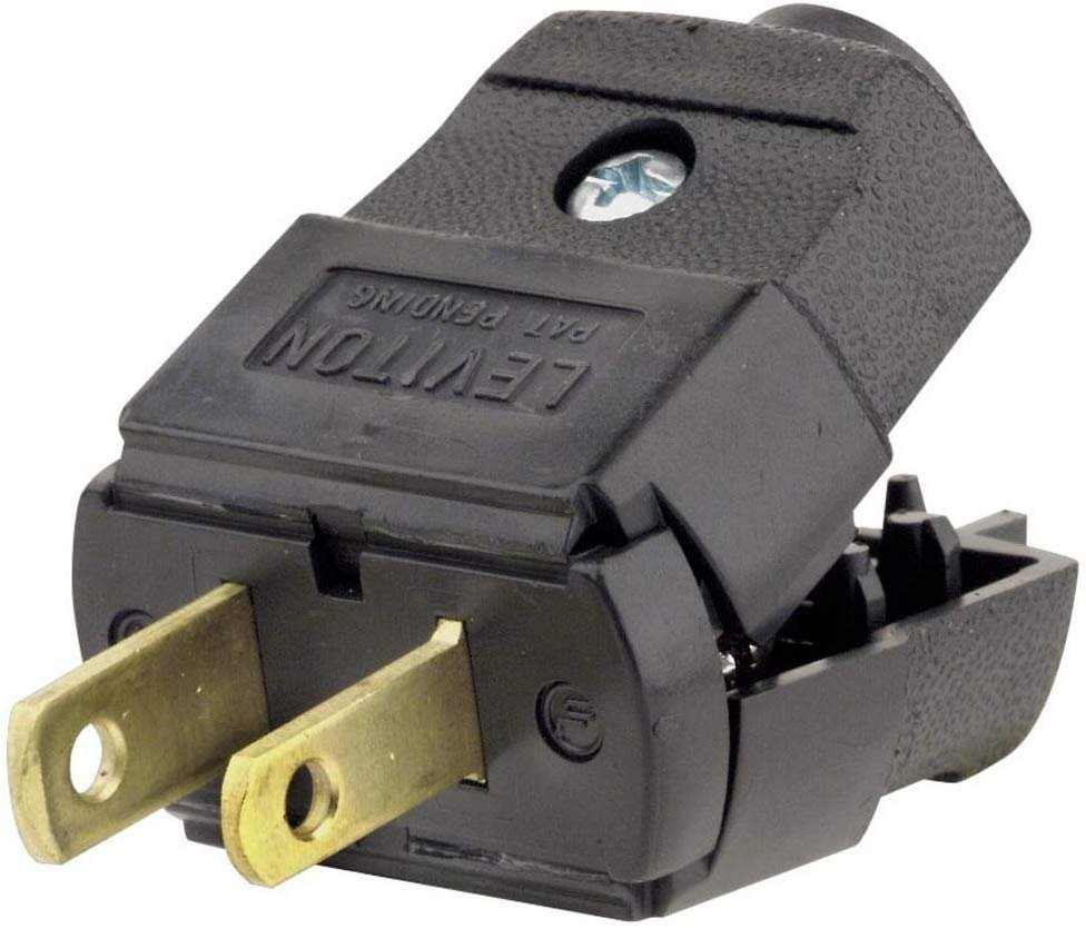 Leviton 101-ep 15 Amp  125 Volt  Residential Grade  Polarized  Non-grounding Plug  Black
