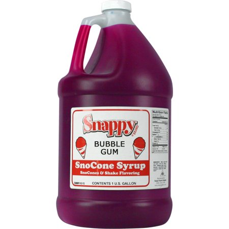 Bubble Gum Snappy Snow Cone Syrup (1 Gallon)