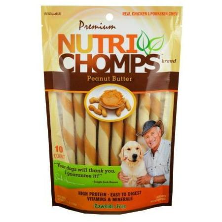 NUTRI CHOMPS MINI TWIST WHITE W/Peanut Butter Flavor (Golden Butter Twists)