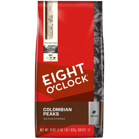 Eight O'Clock® 100% Colombian Peaks Whole Bean Coffee 33 oz. Bag