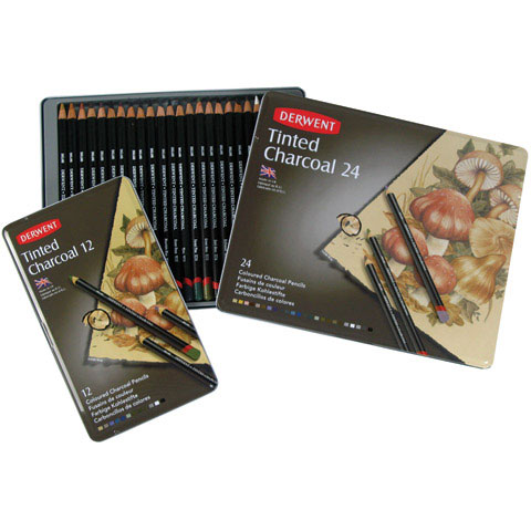 Derwent  Tinted Charcoal Pencil Sets