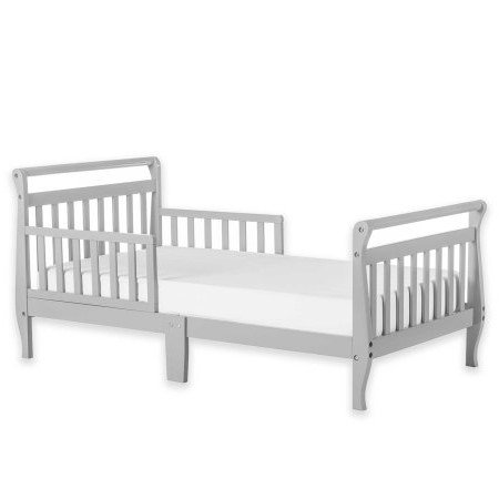 Dream On Me Sleigh Toddler Bed, Multiple Finishes, With Bed Rails (Fashion Bed Sleigh Bed)