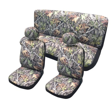 Forest Gray Camo Seat Covers Set Front Rear Camouflage Leaves Honda Civic