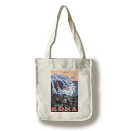 Free Flow Bag (Kona, Hawaii - Lava Flow Scene - Lantern Press Poster (100% Cotton Tote Bag - Reusable))