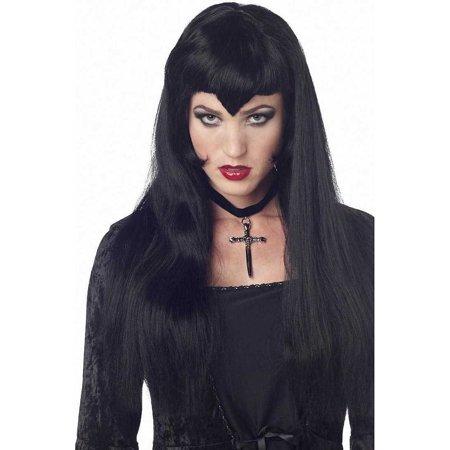 Black Vampire Widows Peak Wig California Costumes 70129 (Vampire Wig)