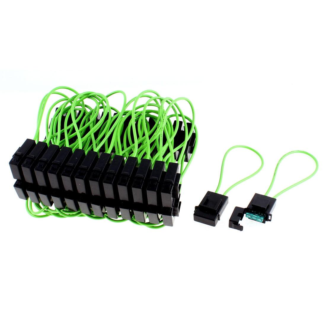 Unique Bargains 50 x Black Green Car Sound Audio Inline  Fuse Holder Block 30A - image 3 of 3