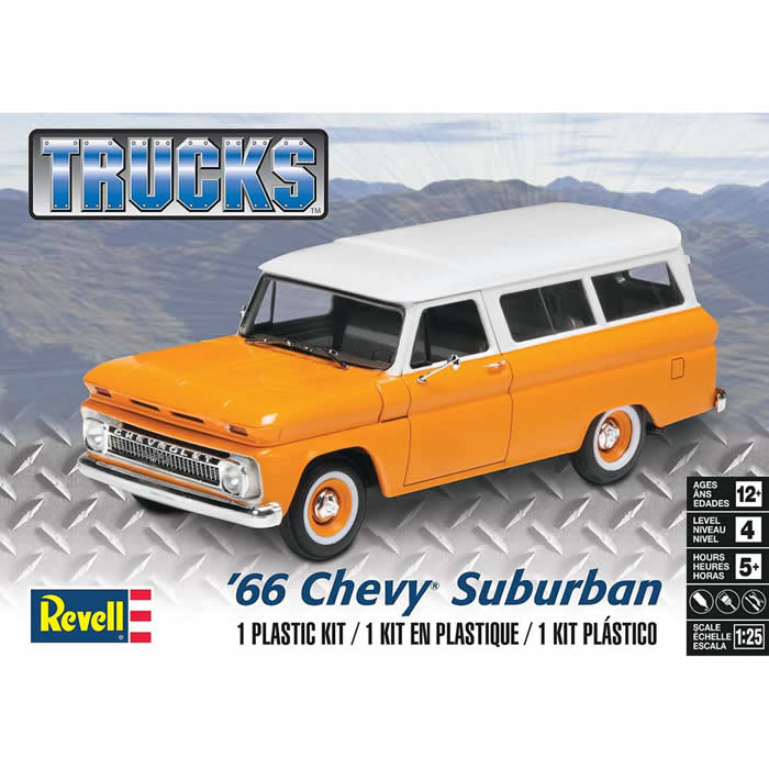 Revell '66 Chevy Suburban Plastic Model Kit by Revell