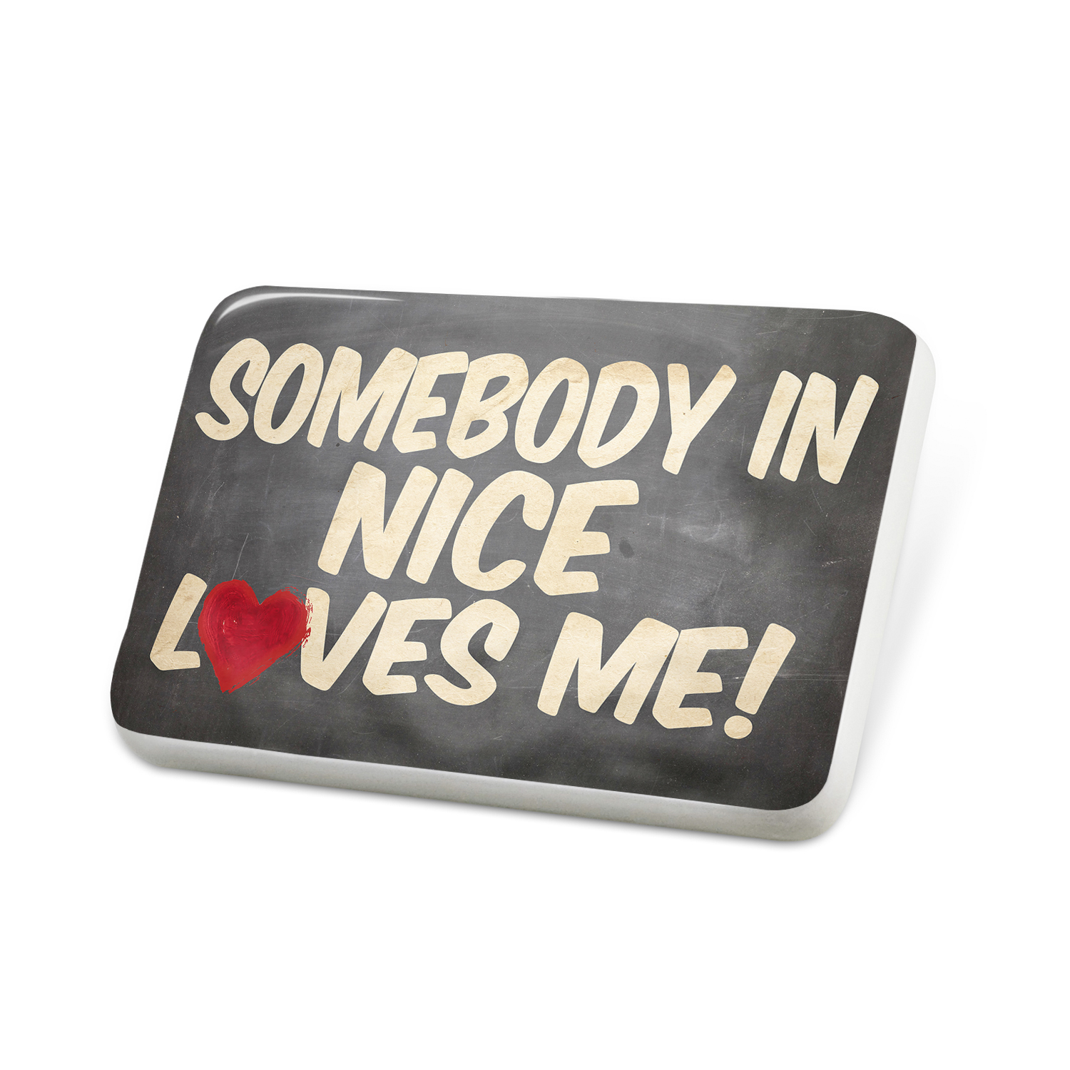 Porcelein Pin Somebody in Nice Loves me, France Lapel Badge – NEONBLOND