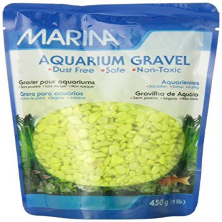 Large Gravel - (2 Pack) Marina Decorative Lime Aquarium Gravel, 1 lb