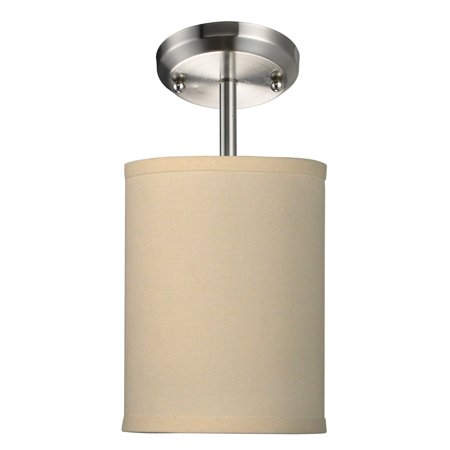 Albion 1 Light Pendant - Z-Lite Albion 1 Light Mini Pendant in Brushed Nickel