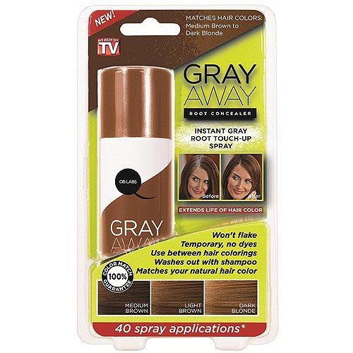 As Seen on TV Gray Away Light Brown Root Concealer - Walmart.com
