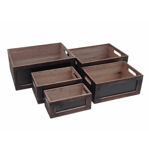 Cheungs 5 Piece Wooden Crates Set