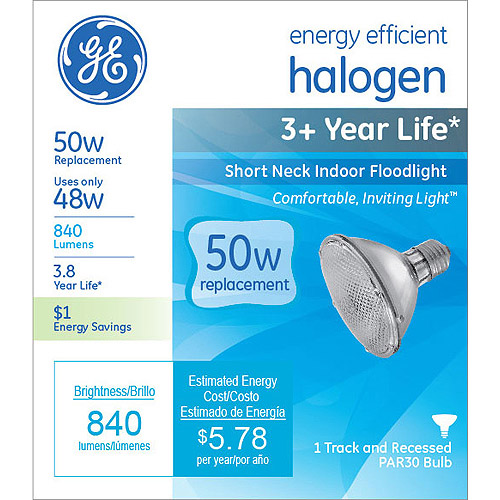 GE energy-efficient halogen 48 watt PAR30 floodlight 1-pack by GE Lighting General Electric Company