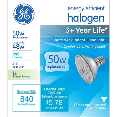 Ge Energy Efficient Halogen 48 Watt Par30 Floodlight 1 Pack