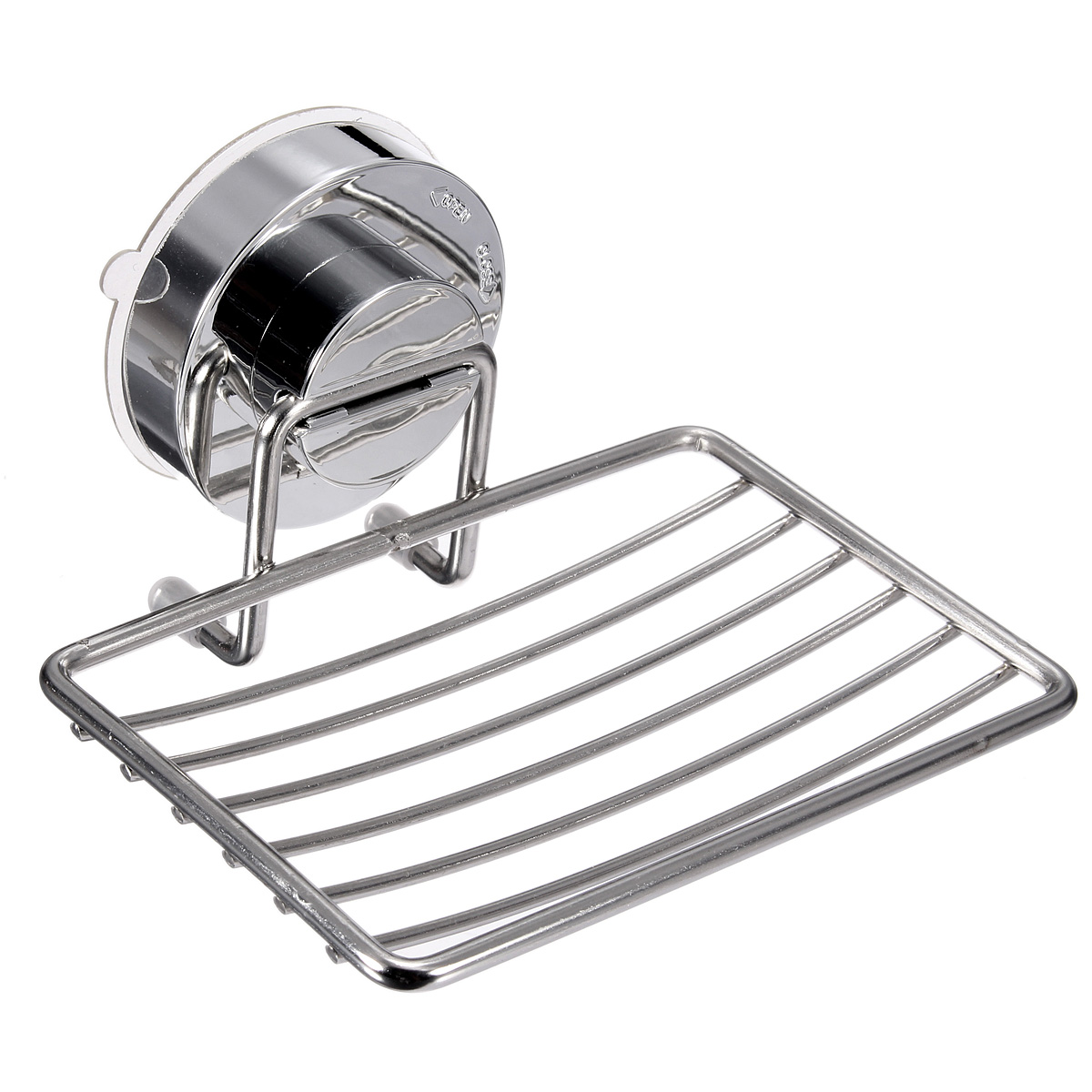 75kg large loadbearing stainless steel wall suction cup bathroom bath shower soap dishes holder basket