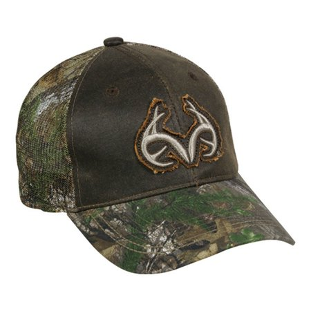 Realtree Extra Green And Brown Mesh Back Buck Horn Camo Hunting Hat