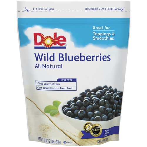 Dole Wild All Natural Blueberries 32 Oz Bag