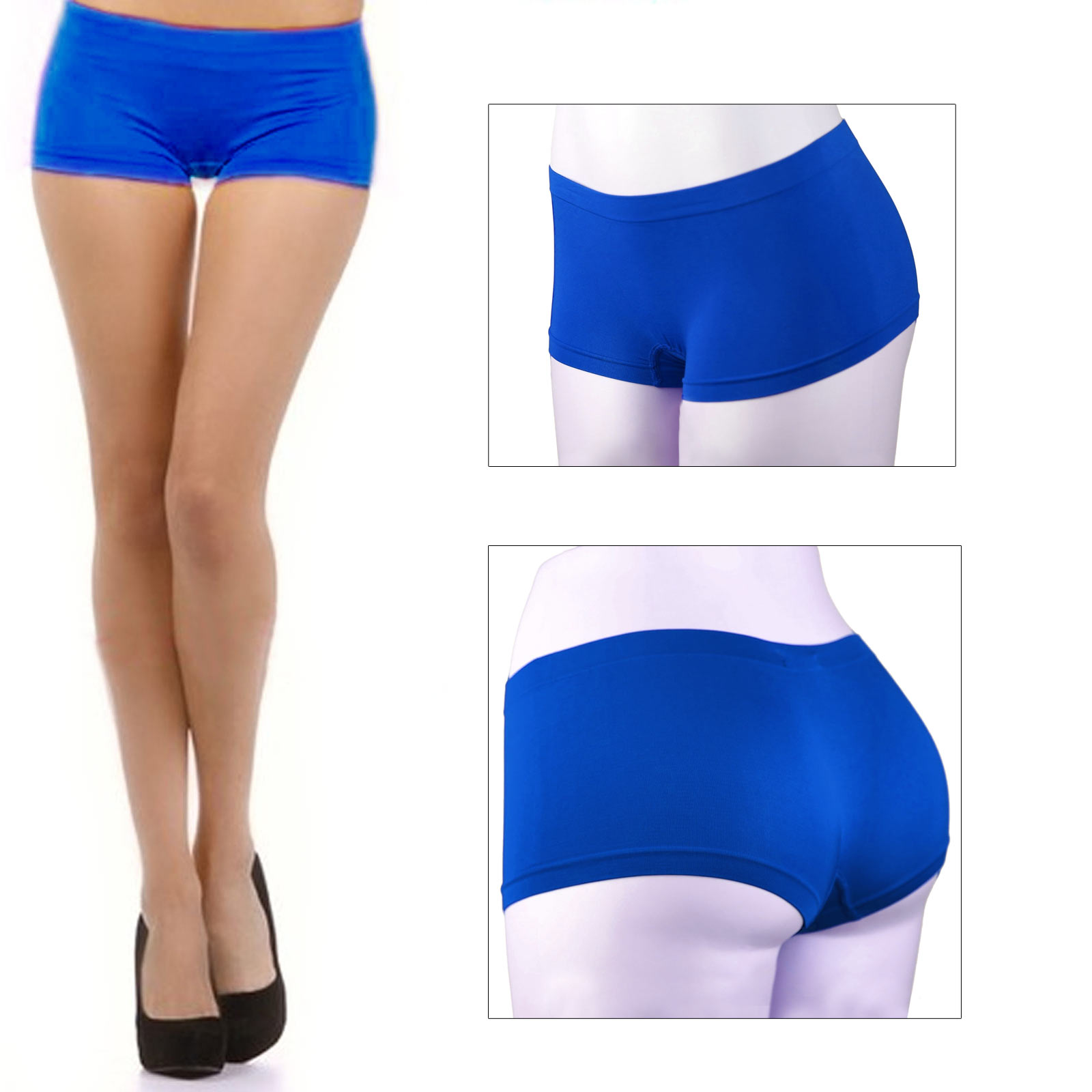 New Stretch Seamless Dance Exercise Booty Mini Panties Boy Shorts Brief Spankies