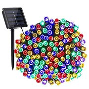 Solar Christmas Lights, 72ft 200 LED with 8 Modes Solar String Lights, Waterproof Solar Outdoor String Lights for Christmas, Patio, Garden, Party, Xmas Tree Decorations (Multicolor)