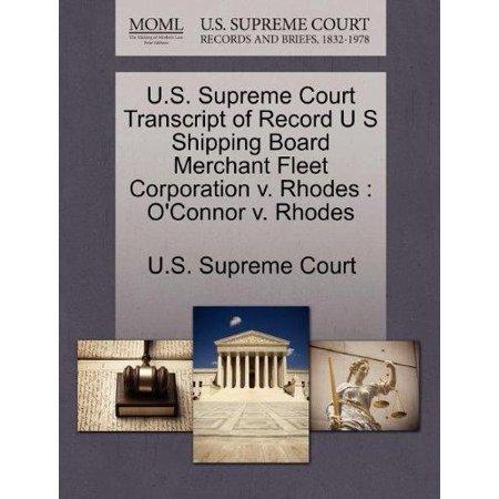 U.S. Supreme Court Transcript of Record U S Shipping Board Merchant Fleet Corporation V. Rhodes - image 1 of 1
