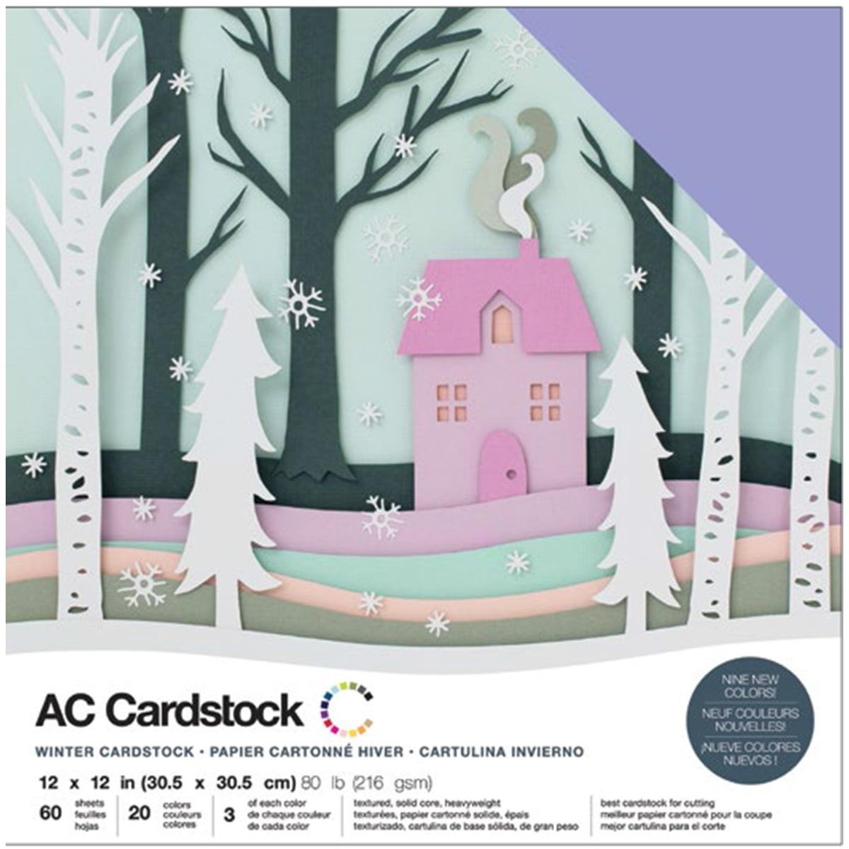 "American Crafts Variety Cardstock Pack 12"" x 12"" 60/Pkg - Winter"