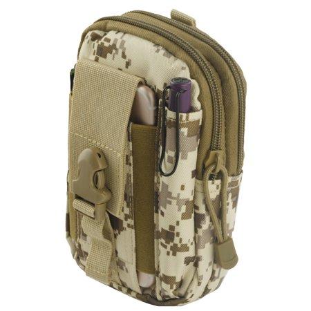 ZTE Blade Vantage Z839 (Verizon) Pouch - Tactical EDC MOLLE Utility Gadget  Holder Pack Belt Clip Waist Bag Phone Carrying Holster - (Desert Camo) and