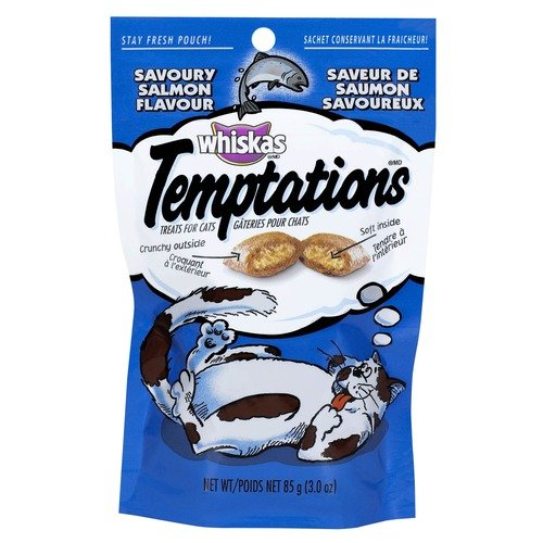Whiskas Salmon Temptation Treat for Cats-12 Pack (Set of 12)
