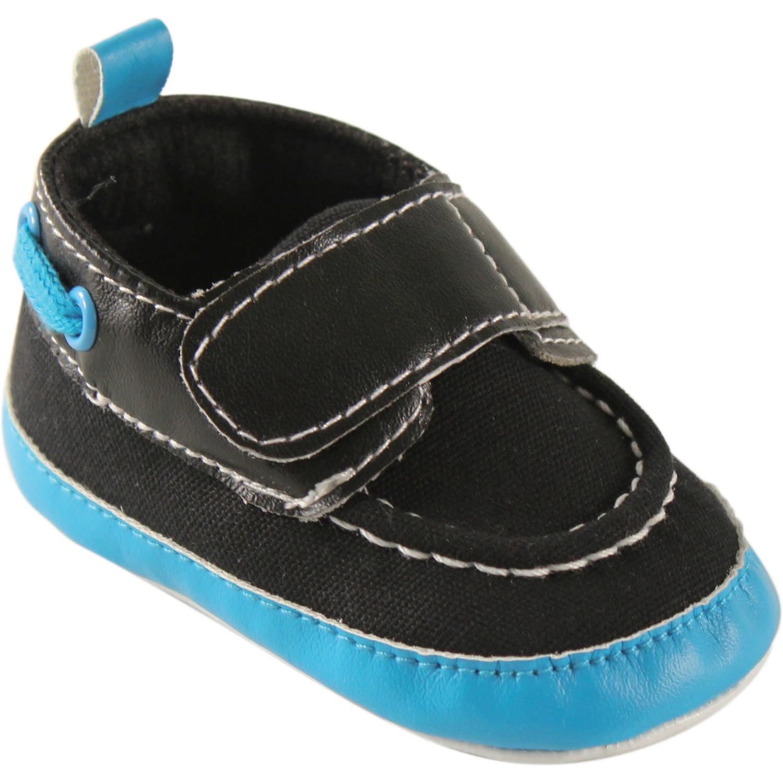 Luvable Friends Newborn Baby Boy Bright Boat Crib Shoess
