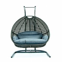 Direct Wicker Hanging Egg Hammock Lifts Seat Cushion, Double Seat Soft Swing Bird's Nest Seat Cushion Hanging Basket Chair Cushion Suitable for Indoor/Outdoor